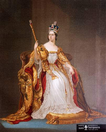 Queen Victoria in coronation dress 20 June 1837 Many foods are named after Queen Victoria, including Victoria plums and Victoria sponge.